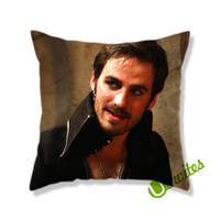 Once Upon a Time Captain Hook Believe Square Pillow Cover