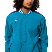 The Charlotte Hornets NBA Authentic Warm Up Jacket in Teal