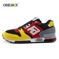 Onemix men & women running shoes lightweight cool sneakers breathable athletic shoes for outdoor sports jogging walking trekking