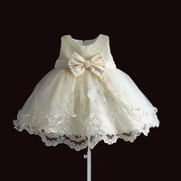 Baby Girls Dress For Party Princess Lace Pearl Infant Christening Dress 1 Year Birthday Dresses Christmas Baby Clothing