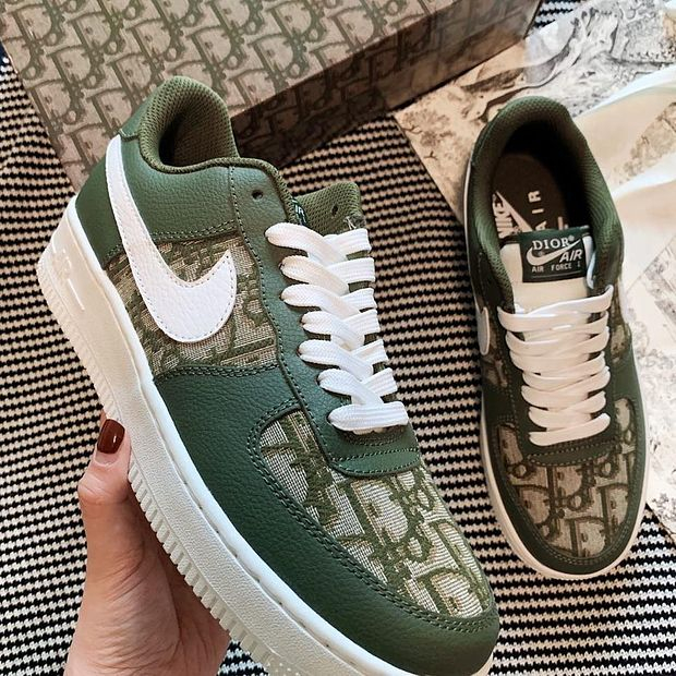 Image of Nike Air Force 1 X Dior Women Men Sneakers Classic Shoes