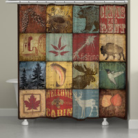 Lodge Patch Shower Curtain
