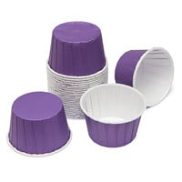 Paper 4-Ounce Candy Cups - Purple: 25-Piece Pack