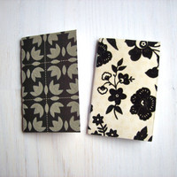 Mother's Day: 2 Tiny Journals Set, Black and White, Mom, Mother, Unique, Gift, Jotters, Mini Journals, Small Notebooks, Geometric - Set of 2