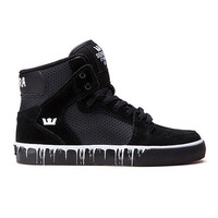 Supra - Kids Vaider - Black/White Paint Drip