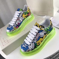Alexander Mcqueen Graffiti Oversized Sneakers With Air Cushion Sole Reference #21