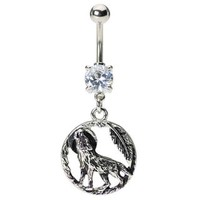 Wolf Belly Button Ring