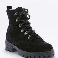 Paula Black Suede Faux-Fur Lined Hiking Boots - Urban Outfitters