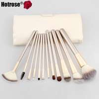 12Pcs Makeup Brush Kits Professional Synthetic Cosmetic Makeup Brush Foundation Eyeshadow Eyeliner Brush Kits pinceis maquiagem
