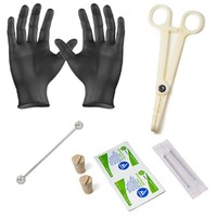 10-piece Industrial Barbell Piercing Kit - Everything Included to Achieve Professional Results