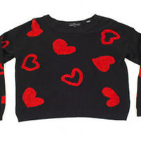 Vintage 80's Carole Little Cute Red Heart Sweater for Valentine's Day