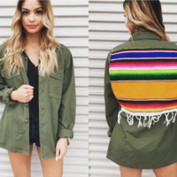 Vintage Military Jacket w/ Patch