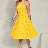 Yellow Polka Dot Dress | VENUS
