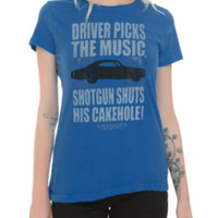 Supernatural Driver Picks The Music Girls T-Shirt