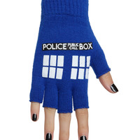 Doctor Who TARDIS Fingerless Gloves