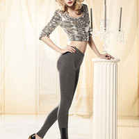 Peek Brooklyn - Lace Trimmed Jeggings Stockings, tights, hold-ups and leggings