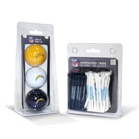 San Diego Chargers NFL 3 Ball Pack and 50 Tee Pack