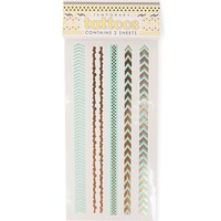 With Love From CA Boho Bracelets Flash Tattoos - Womens Scarves - Gold - NOSZ