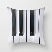 Piano Throw Pillow by Rob Snow