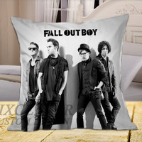 Fall Out Boy FOB Music band  on Square Pillow Cover