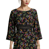 Boutique Pippa Floral Crochet Shift Dress