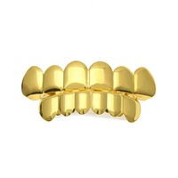 A set of dental braces Gold Sliver Rapper Hip Hop Caps Mold Top Teeth Grillz Top Bottom Grill Teeth Grills Drop Shipping 1a09