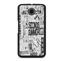 5 Seconds of Summer Songs Collage For Nexus 6 Case
