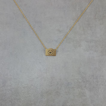 Camera Gold Necklace