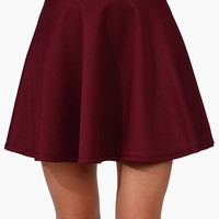 Rad Skater Skirt in Burgundy
