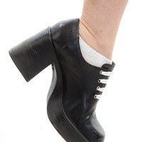 Vintage 90's Contrast Chunky Oxfords - US 7