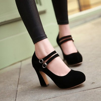 2015 New Fashion Vintage Femininos Wedding Sexy High Heel Shoes for Women Big Size = 5708900737