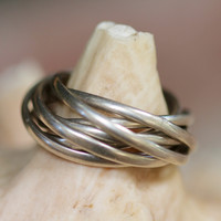 Sterling Silver Puzzle Ring Mexico Boho Rings Hippie