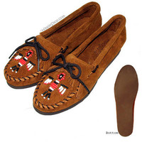 Minnetonka Thunderbird Crepe Sole Women's Moccasins on Sale for $39.95 at The Hippie Shop