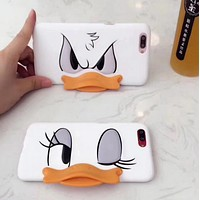 Disney creative Donald Duck iphone6 couple's stylish iphone 7/8plus covers men and women