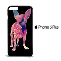 Chihuahua Dog Silhouette Rose Blossom iPhone 6 PLus Case