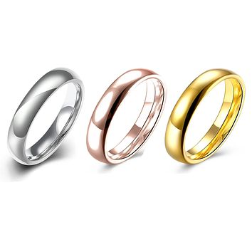 Stainless Steel Comfort Fit Unisex Band Ring