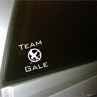 The Hunger Games inspired Mockingjay car decal Team Gale..vinyl lettering....
