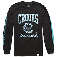 Diamond Supply Co x Crooks and Castles Logo Collab Long Sleeve T-Shirt at PacSun.com