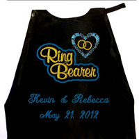 Boy's Ring Bearer Cape,  Embroidered Ring Bearer Cape Personalized Wedding Photo Op