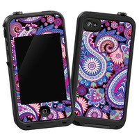"""Brilliant Jewel Tone Paisley """"Protective Decal Skin"""" for LifeProof iPhone 4/4s Case"""