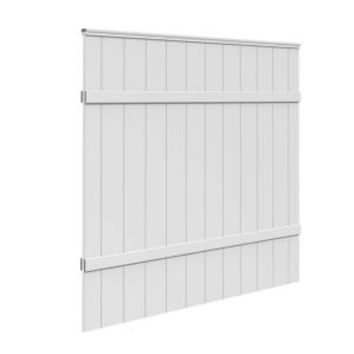 6 ft. H x 6 ft. W White Vinyl Windham Fence Panel 73014216 at The Home Depot - Mobile