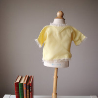 1940s Sunny Satin Bed Jacket, size 3 months