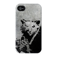 Banksy Rat with Camera 1 Full Wrap Premium Tough Case for iPhone 4 / 4s by Banksy