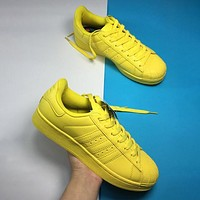 Adidas Shell Toe Sneakers Sport Shoes Pure Color Flats