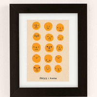 Hiller Goodspeed Faces I Know Art Print | Urban Outfitters