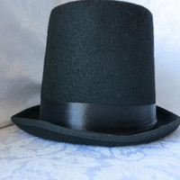Hat,Top Hat ,Black Sturdy Hat,You Decorate,Use for Wedding