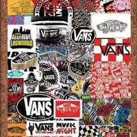 O-7233 Vans of the Wall Ads. Classic Collectibles, Decorative Poster Art Print Vintage New Size: 35 X 24 Inch.