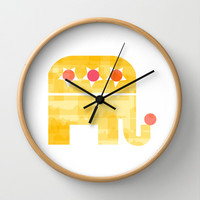 At circus Wall Clock by Yasmina Baggili