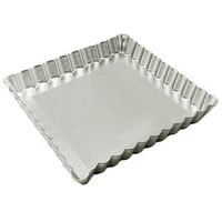 Fat Daddio's 12 Inch x 12 Inch x 1 Inch Square Tart Pan with Removable Bottom