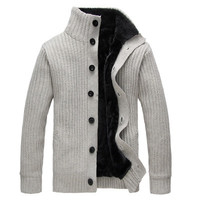 Mens Comfortable Casual Turtleneck Button-Up Sweater